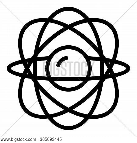 Gravity Gyroscope Icon. Outline Gravity Gyroscope Vector Icon For Web Design Isolated On White Backg