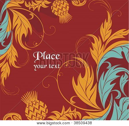 decorative vector background with thistle