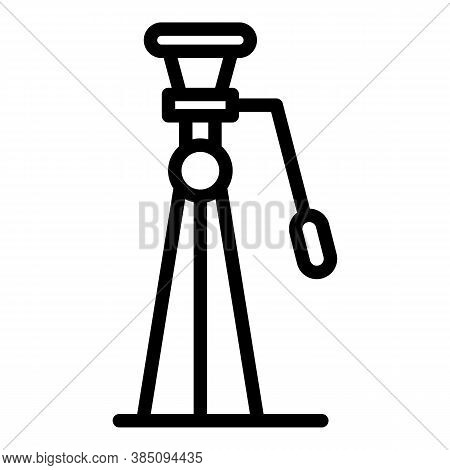 Tripod Icon. Outline Tripod Vector Icon For Web Design Isolated On White Background