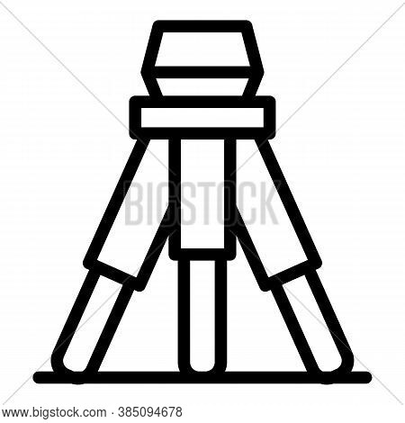 Architect Tripod Icon. Outline Architect Tripod Vector Icon For Web Design Isolated On White Backgro