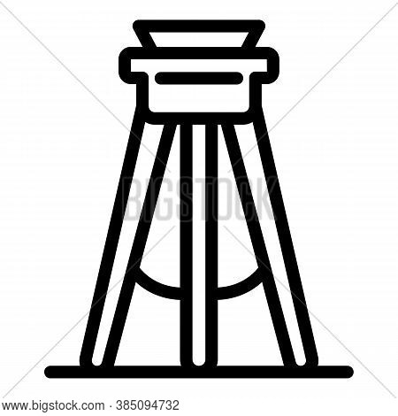 Instrument Tripod Icon. Outline Instrument Tripod Vector Icon For Web Design Isolated On White Backg