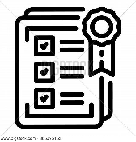 Standard Paper Icon. Outline Standard Paper Vector Icon For Web Design Isolated On White Background