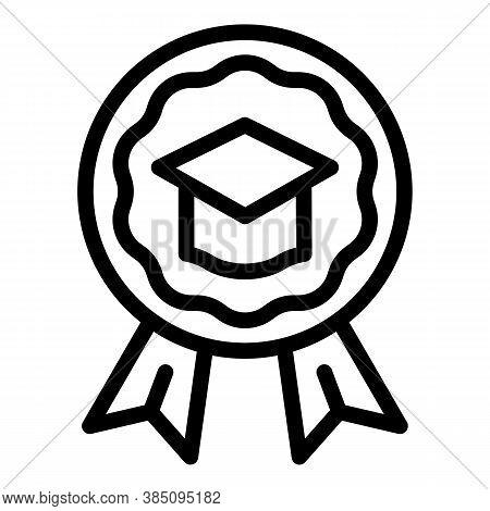 Standard Graduate Hat Emblem Icon. Outline Standard Graduate Hat Emblem Vector Icon For Web Design I