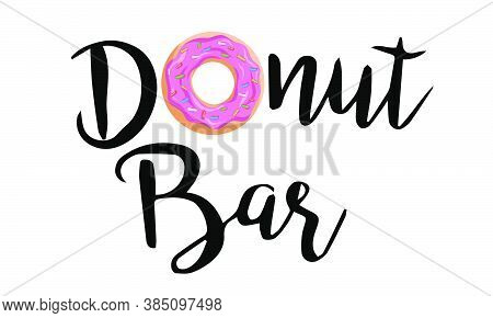 Don't Worry Be Happy. Cute Print With Donut,