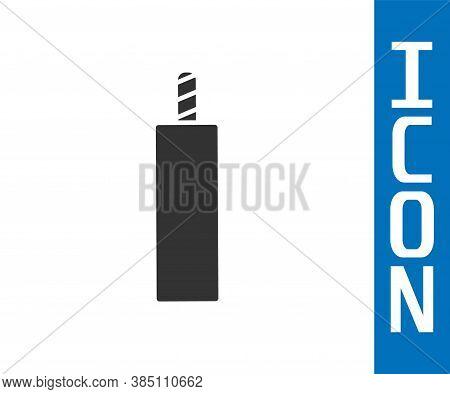 Grey Detonate Dynamite Bomb Stick Icon Isolated On White Background. Time Bomb - Explosion Danger Co