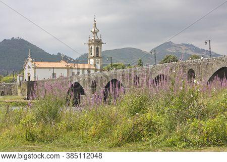 Ponte Do Lima, Viana Do Castelo/portugal; Jul. 31, 2012. The Bridge That Gives The Name To The Town
