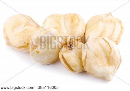 Asian Palmyra Palm, Toddy Palm, Sugar Palm An Isolated On White Background.clipping Path
