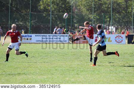 Odessa, Ukraine - September 12, 2020: Final Games Of Strongest Rugby-7 Teams In Ukrainian Championsh