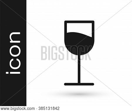 Grey Wine Glass Icon Isolated On White Background. Wineglass Sign. Vector Illustration