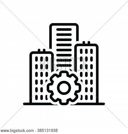 Black Line Icon For Establishment  Foundation Underlay Basis Architecture Building Construction Prem