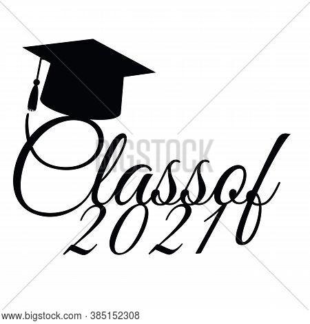 Congratulatory Illustration For Graduation From Educational Institutions. Vector Illustration. Gradu