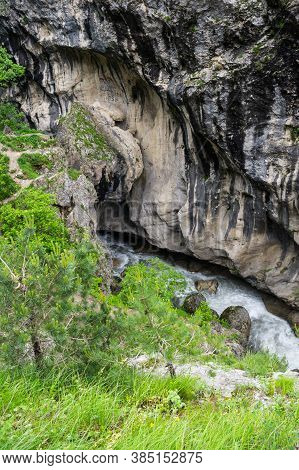 The Kurtatin Gorge In North Ossetia-alania, The North Caucasian Region Of Russia