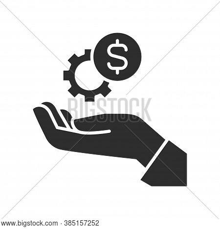 Funding Sources Black Glyph Icon. Pictogram For Web Page, Mobile App, Promo. Ui Ux Gui Design Elemen
