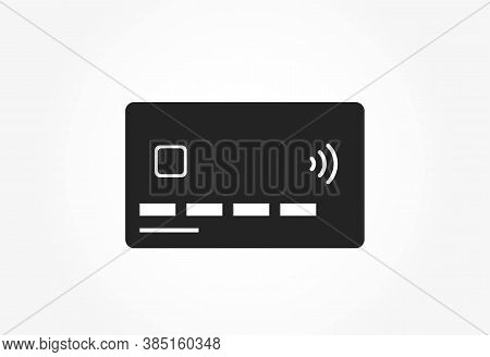Credit Card Icon. Bank Payment Card With Nfc Paypass, Front Side. Financial And Banking Web Design S