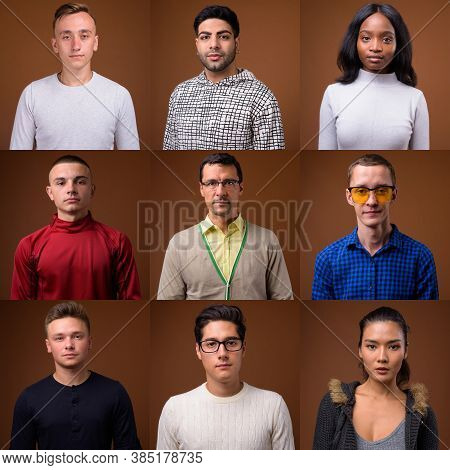 Collage Of Multi Ethnic And Mixed Age People
