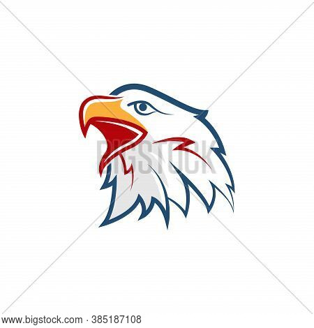 Bird Head Vector. Eagle Icon. Eagle Bird Vector. Eagle Illustration. Falcon Logo. Falcon Bird Vector