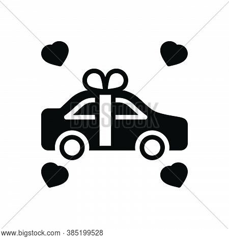 Black Solid Icon For Newly Recently Surprise Just Newlywed Merely Win Car Exclusively Gift Present R