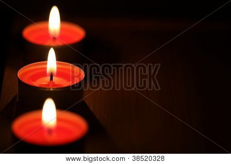 Christmas candles decoration