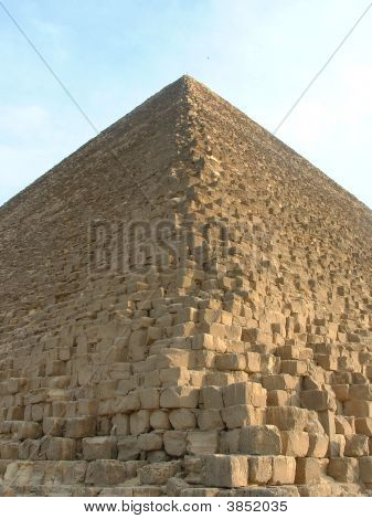 Pyramids Of Giza In Egypt - Close Up Of Blocks.