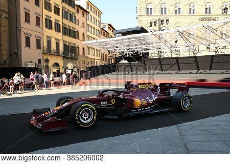 Florence, September 2020: Ferrari Sf1000 F1 On Display During The Ferrari 1000 Gp Show In Piazza Del