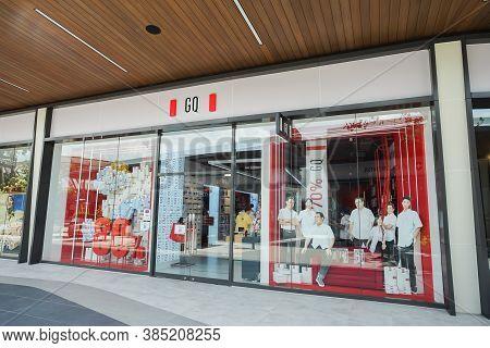 Samut Prakan, Thailand - July 28, 2020: Gq Shop In Siam Premium Outlets Bangkok. Gq Brand Is The Lea
