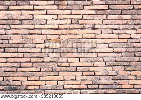 Orange Brick Wall Concrete Or Stone Texture Background, Wallpaper Limestone Abstract To Flooring And
