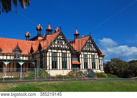 The Building In The Gardens Of Rotorua, New Zealand