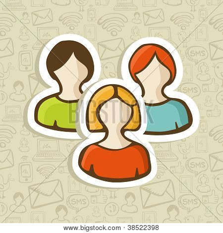 Social User Group Profile Icons
