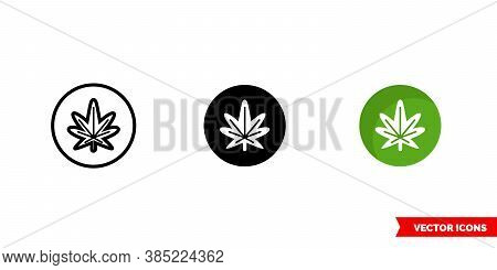 Reggae Music Genre Icon Of 3 Types Color, Black And White, Outline. Isolated Vector Sign Symbol.