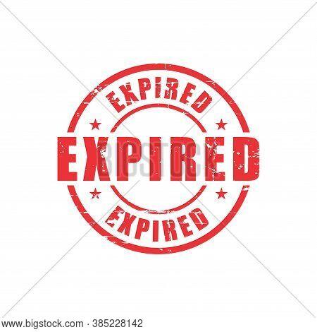 Expired Text Stamp. Expired Round Grunge Sign. Stamp Expired Grunge, Typeset Typography, Grungy Docu