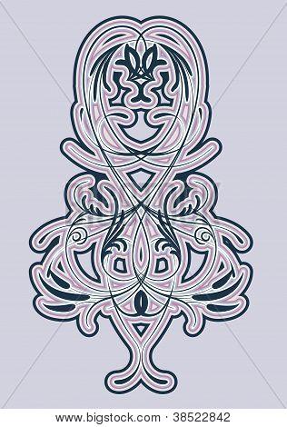 Stylized Pattern Of Plant Elements