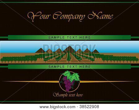 Label For Black Vine