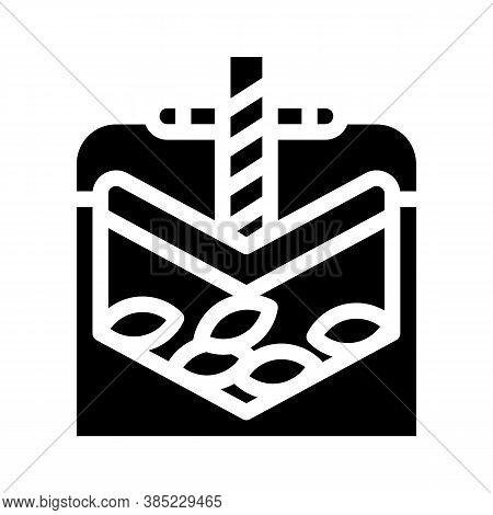Press Equipment Glyph Icon Vector Symbol Illustration