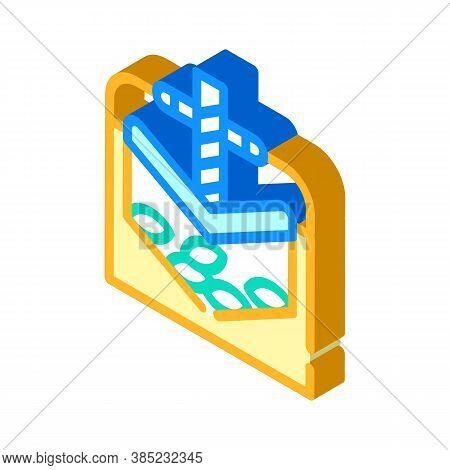 Press Equipment Isometric Icon Vector Symbol Illustration