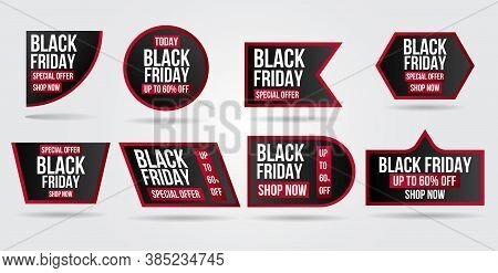 Black Friday Sale Set Banner And Flyer With Sale Promo Collection.modern Design Layout Template.shop