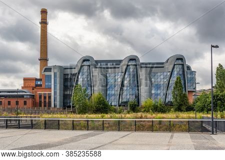 Lodz, Poland - May 7, 2019: Power plant complex redevelopment as a part of