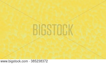Abstract Yellow Blurred Background With Spots, Patchy Panorama