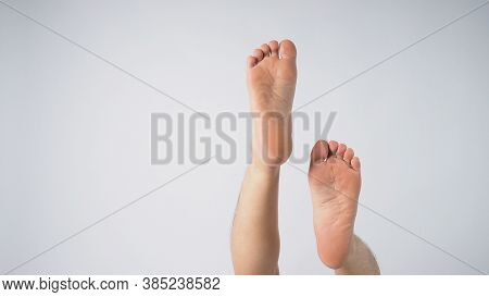 Male Sole Of Foot On White Background