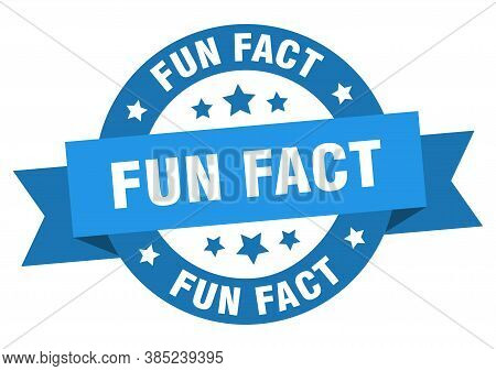 Fun Fact Round Ribbon Isolated Label. Fun Fact Sign