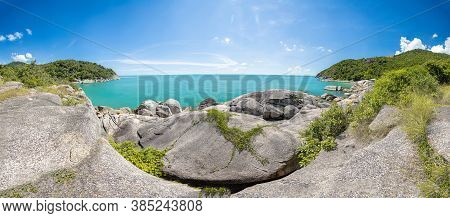 Panorama View Of Haad Thansadet In Phangan Island, Thailand