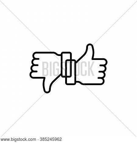 Like And Unlike Dislike Symbol. Yes Or No Symbol. Vector Illustration. Stock Vector Illustration Iso