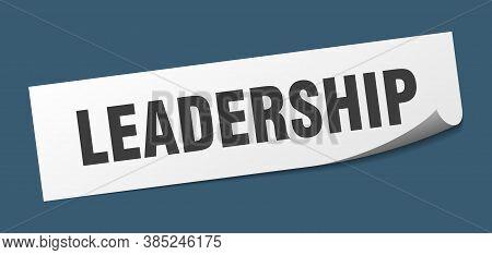 Leadership Sticker. Leadership Square Sign. White Peeler