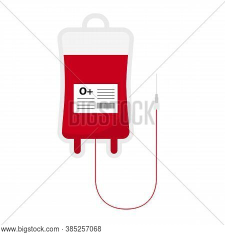 Flat Icon Blood Transfusion Isolated On White Background. Vector Illustration.