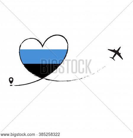Flag Of Estonia Love Romantic Travel Airplane Airplane Plane Airplane Flight Fly Jet Airline Line Ve