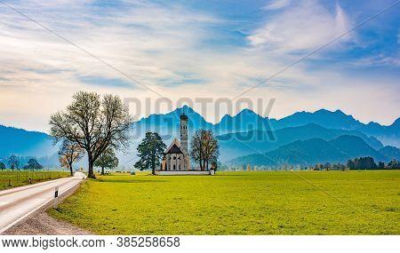 St. Coloman Pilgrimage Curch In Schwangau, Bavaria, Germany