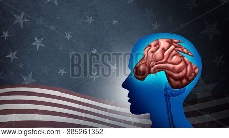 Liberal Political Ideology And American Left Voter For Usa Election Strategy As A Symbol For Liberal