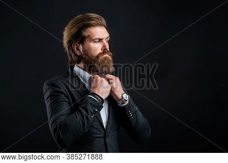 Representation Modern Successful Man Business Career, Hairdresser Salon Concept