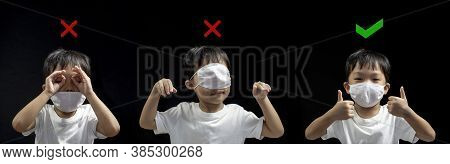 How To Wearing Medical Face Mask Correctly From Asian Little Boy , How To Wearing Face Mask Correct