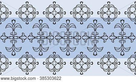 Vector Ornament Decor. Baroque Background Textures.victorian Fabric Tilevector Ornament Decor. Baroq