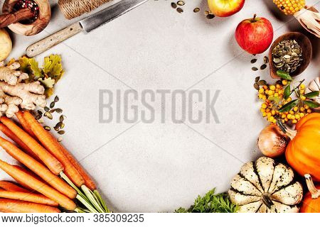 Healthy food cooking background, Vegetable ingredients., copy space